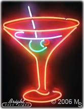 Martini Cocktail Neon Sign