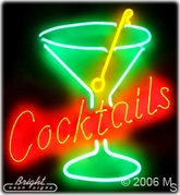 Martini Cocktails Neon Sign