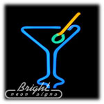 Martini Glass Neon Sculpture