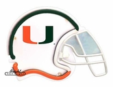 Miami Hurricanes Football Neon Helmet