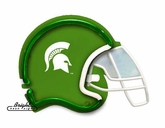 Michigan State Spartans Football Neon Helmet