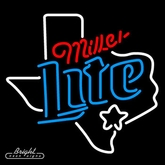 Miller Light Texas Neon Sign