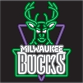 Milwaukee Bucks Neon Sign