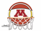 Minnesota Golden Gophers Neon Basketball Sign