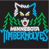 Minnesota Timberwolves Neon Sign