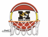 Missouri Tigers Neon Basketball Sign