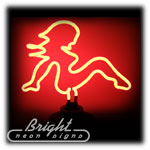 Mudflap Girl Neon Sculpture