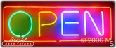 Multi-Color Neon Open Sign