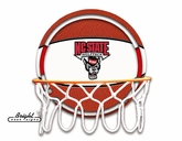 NC State Wolfpack Neon Basketball Sign