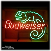 Neon Budweiser Lizard Sign