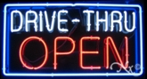 Neon Drive Thru Open Sign