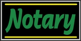 Notary Lightbox Sign