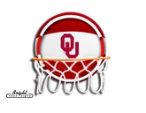 Oklahoma Sooners Neon Basketball Sign