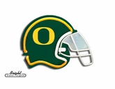 Oregon Ducks Football Neon Helmet