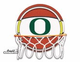 Oregon Ducks Neon Basketball Sign