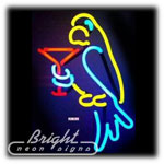 Parrot Martini Neon Sculpture