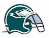 Philadelphia Eagles Neon Helmet