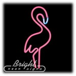 Pink Flamingo Neon Sculpture