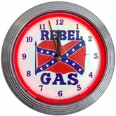 Rebel Gas Neon Clock