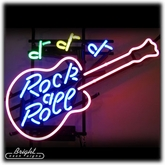 Rock & Roll Guitar Neon Sign