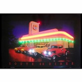 Route 66 Diner Neon & LED Picture