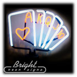 Royal Flush Neon Sculpture