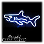 Shark Neon Sculpture