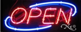 Small Deco Neon Open Sign