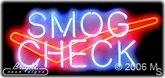 Smog Check Logo Neon Sign