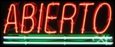 Spanish Neon Open Sign