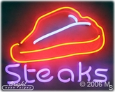 Steaks Neon Sign