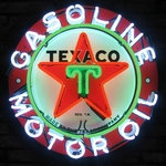 Texaco Oil Neon Sign
