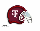 Texas Am Aggies Football Neon Helmet