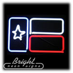 Texas Flag Neon Sculpture