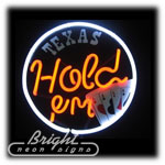Texas Holdem Neon Sculpture