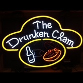 The Drunken Clam Neon Sign