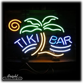 Tiki Bar Palm Neon Sign