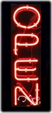 Vertical Open Neon Sign w/o Border