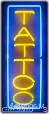Vertical Tattoo Neon Sign