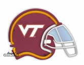 Virginia Tech Hokies Football Neon Helmet