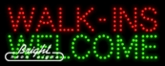 Walkins Welcome LED Sign