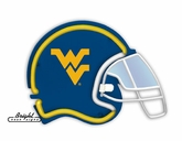 West Virginia Mountaineers Football Neon Helmet