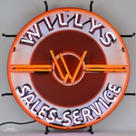 Willys Sales & Service Neon Sign