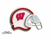 Wisconsin Badgers Football Neon Helmet