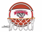 Wisconsin Badgers Neon Basketball Sign