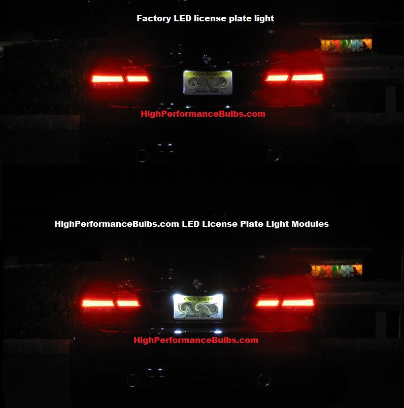 2003 Audi S6 Interior: 08 Audi A4 S4 RS4 (B6 B7) LED License Plate Lights
