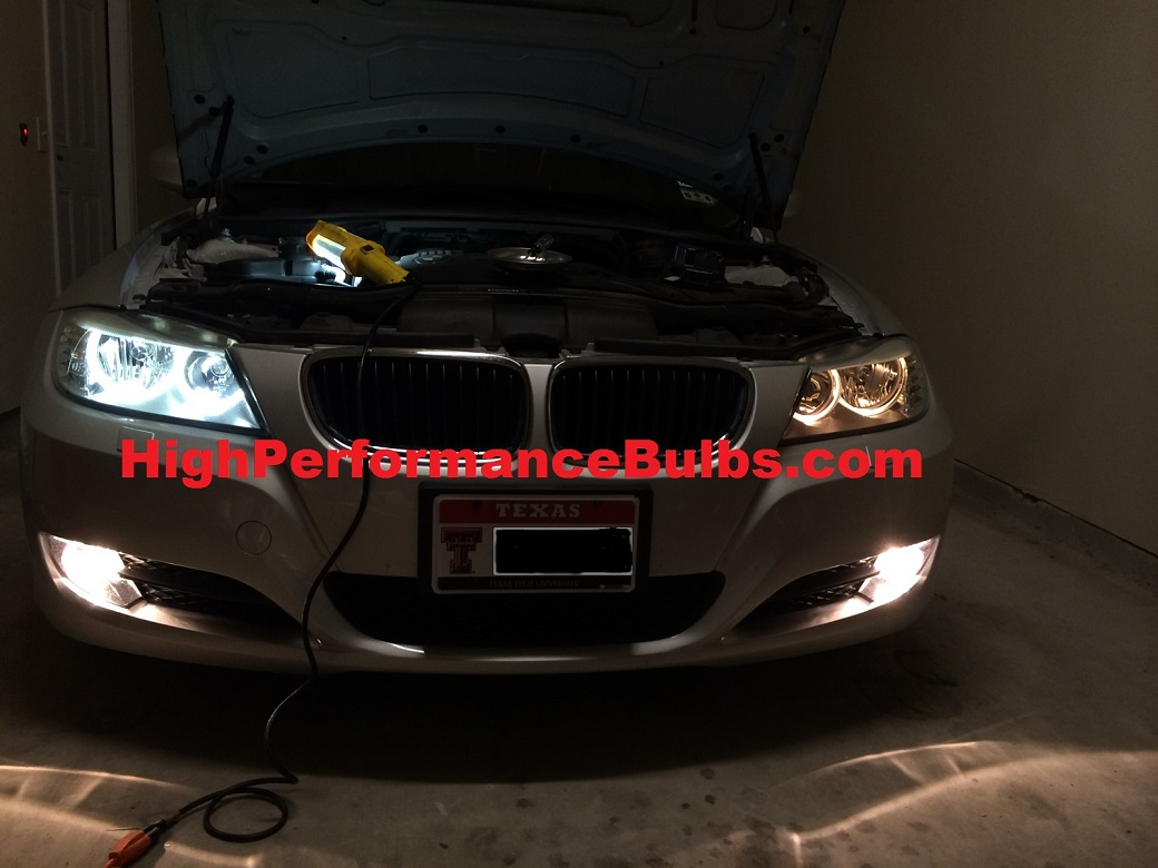 40 Watt Led Angel Eyes For 2009 2012 Bmw 3 Series E90 Lci Sedan Or E91 Lci Wagon