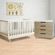 2 Piece Nursery Set - Classic Collection Crib & 4 Drawer Dresser - Birch by Oeuf