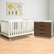 2 Piece Nursery Set - Classic Collection Crib & 4 Drawer Dresser - Walnut by Oeuf