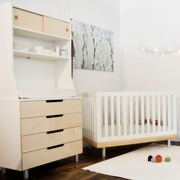 3 Piece Nursery Set Classic Collection Crib, 4 Drawer Dresser & Hutch - Birch by Oeuf